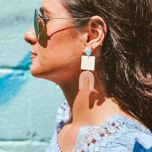 Hazel Geometric Earrings